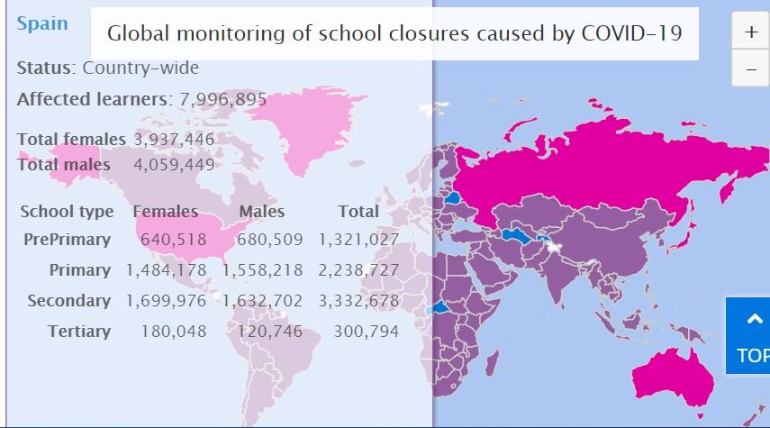 escuelas cerradas españa
