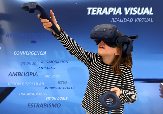 terapia visual niños realidad virtual
