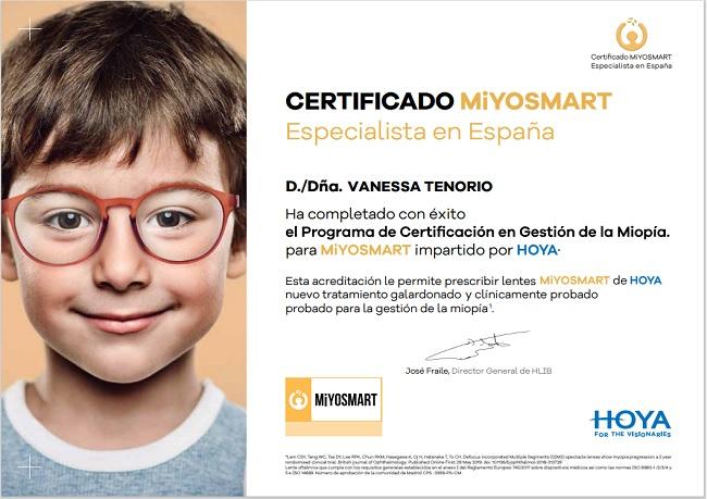 Especialista control miopia Miyosmart